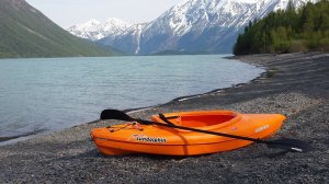 Kayaking on Kenai Lake, May 2014